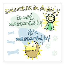 """measure_agility_success Square Car Magnet 3"""" x 3"""""""