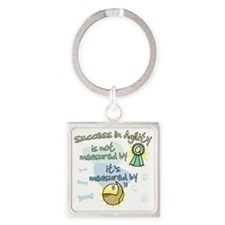 measure_agility_success Square Keychain