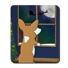 xmas_corgi_at_window Mousepad