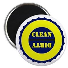 "Blue and Yellow Clean Dirty 2.25"" Magnet (10 pack)"