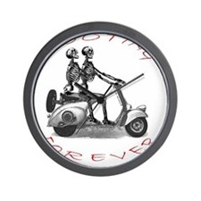 scootingforever Wall Clock