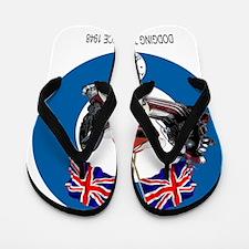 UKVespabullseyewhite1 Flip Flops