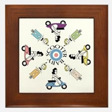 scootergirl-ring-ver2-circle Framed Tile