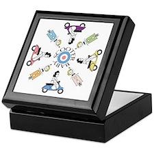 scootergirl-ring-ver2-circle Keepsake Box