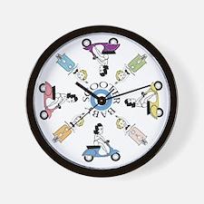 scootergirl-ring-ver2-circle Wall Clock