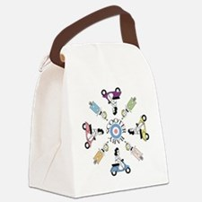 scootergirl-ring-ver2-circle Canvas Lunch Bag