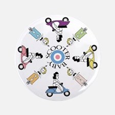 """scootergirl-ring-ver2-circle 3.5"""" Button"""