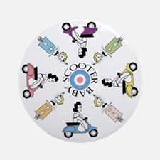 scootergirl-ring-ver2-circle Round Ornament