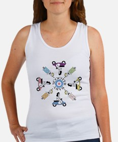 scootergirl-ring-ver2-circle Women's Tank Top
