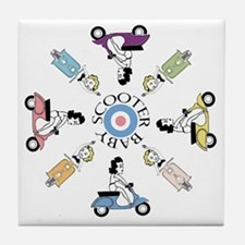 scootergirl-ring-ver2-circle Tile Coaster