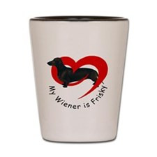 frisky-wiener Shot Glass