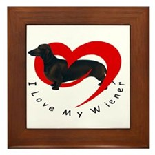 I-love-my-wiener Framed Tile