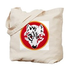 red-wolves-round Tote Bag