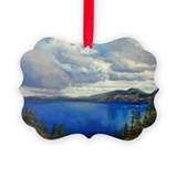 Crater lake Picture Frame Ornaments
