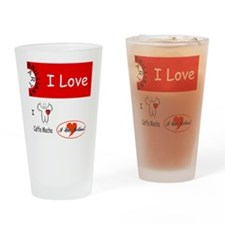 i-love Drinking Glass