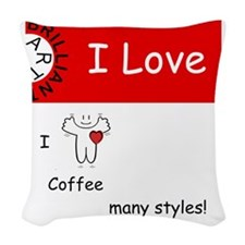 i-love-coffee Woven Throw Pillow