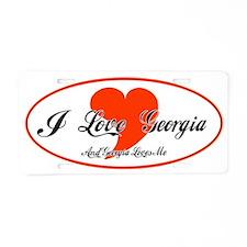 georgia Aluminum License Plate