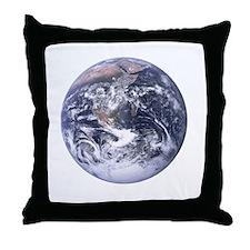earth-job-black Throw Pillow