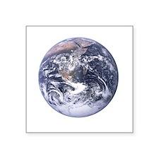 """earth-job-black Square Sticker 3"""" x 3"""""""