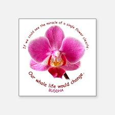 "orchid-buddha Square Sticker 3"" x 3"""