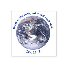 """earth-job-white Square Sticker 3"""" x 3"""""""