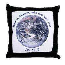 earth-job-white Throw Pillow