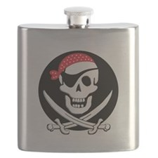 cant-sleep-pirates-black Flask