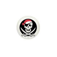 cant-sleep-pirates-black Mini Button