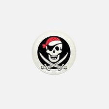 cant-sleep-pirates-black Mini Button