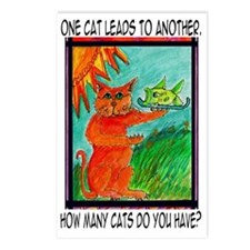 cat-one-leads Postcards (Package of 8)
