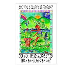 3-cat-ex-boyfriends Postcards (Package of 8)