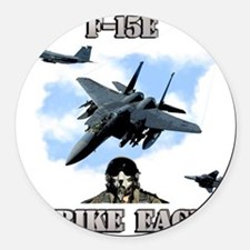 F-15E Strike Eagle-2 Round Car Magnet