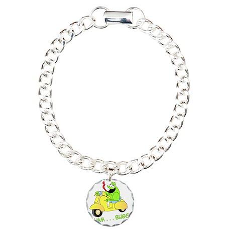 frog-ver-5 Charm Bracelet, One Charm