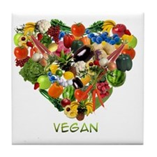 vegan-white Tile Coaster