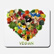 vegan-white Mousepad