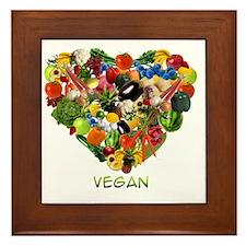 vegan-white Framed Tile