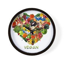 vegan-white Wall Clock