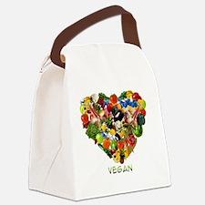 vegan-white Canvas Lunch Bag