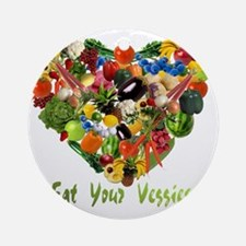eat-your-veggies-white Round Ornament