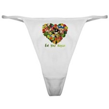 eat-your-veggies-white Classic Thong