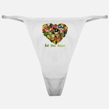 eat-your-veggies-white Classic Thong