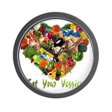 eat-your-veggies-white Wall Clock