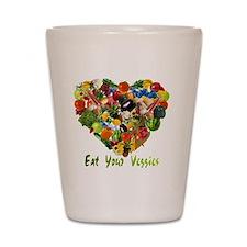 eat-your-veggies-white Shot Glass