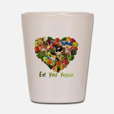 eat-your-veggies-white Shot Glass