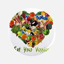 """eat-your-veggies-white 3.5"""" Button"""