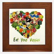 eat-your-veggies-white Framed Tile