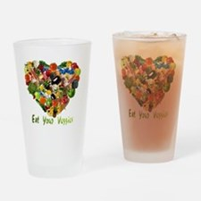 eat-your-veggies-white Drinking Glass