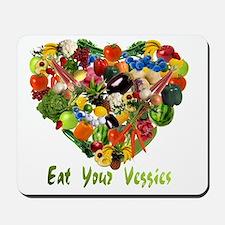 eat-your-veggies-white Mousepad