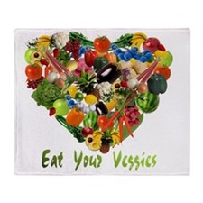 eat-your-veggies-white Throw Blanket