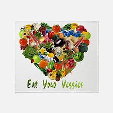 eat-your-veggies-white Throw Blanket